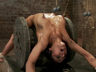 Sexy Brunette Experiences Nipple Torture, Brutal Crotch Rope And Extreme Bondage. - HogTied loading=
