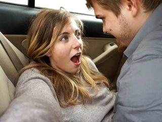 The girl in the posturing of contagion in the car put the pussy be fitting of vaginal...