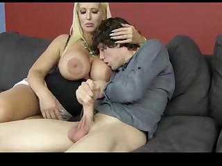Son wants moms big knockers