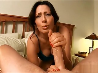 Mom fucks with step son in hotel section POV