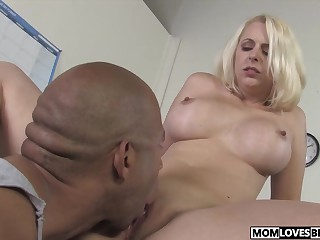 Lady watching well-endowed maw Mandy Lovable taking a BBC