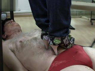 dangerous girls-two goddess-boot pizza feeding slave