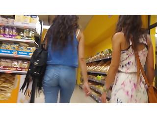 Two girls upskirt