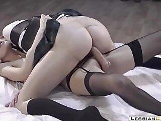 Teensy-weensy Lesbian Teens Femdom Strapon в‡Ё LesbianCUMS.com