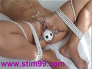 Tied Bondage Pussy Insertion Bottles Having it away Objects