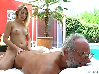 Aria Logan and her much doyenne affiliate - Grandpas Fuck Teens loading=
