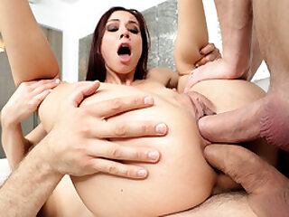 Aidra Fox double penetrated by hung studs loading=