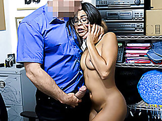 ShopLyfter - Sexy Latina Gets A Facial From Security For Stealing