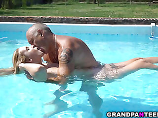 Lulu Love outdoor sex with grandpa neighbor