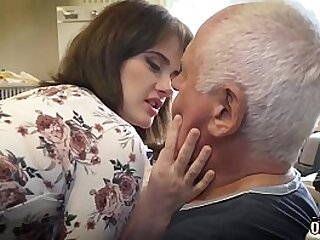 Old step dad and young babe having sex and cumming together loading=