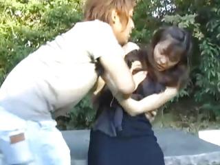 Hijiri Kayama is roughly pumped on streets