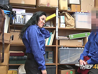 Monica unfathomable face holes intimate officer after being caught shoplifting
