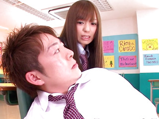 Nippon legal age teenager schoolgirl facialized in class