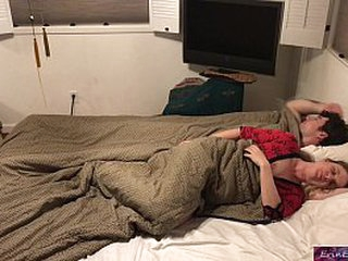 Stepson and stepmom sleep together and fuck while visiting family  - Erin Electra loading=