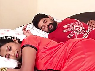 Wife and Husband Romance in Bed Room Scene HD loading=