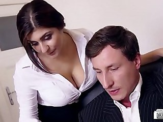 LETSDOEIT - Big Tits Teen Likes To Try Some Sex At The Office loading=
