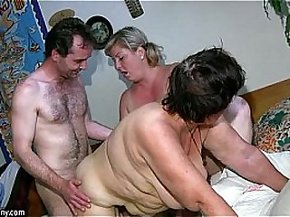 OldNanny Chubby mature and chubby milf have threesome sex