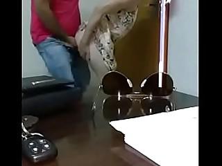 White slut office sex