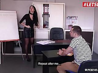 PORNO ACADEMIE - (Ania Kinski, Rick Angel & Tonio Charme) Hot MMF Anal Fun On School's Office