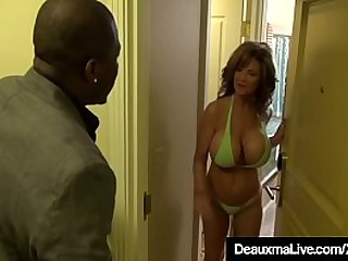 Mature Mothers Deauxma & Shay Fox invite a black bikini bar owner to interview them for a job & they end up sucking & fucking his huge ebony dick while he sucks & licks their hot older lady pussy!