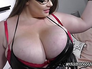 Hot bbw Georgina Gee playing her huge boobs in sexy lingery loading=