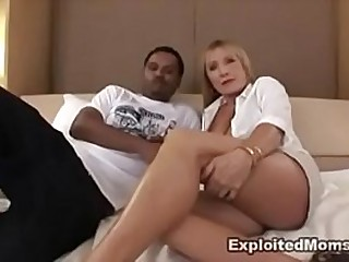 Hot Blonde Milf Interracial Video